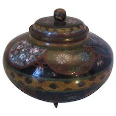 Antique Japanese Cloisonne Ginger Jar c1910.