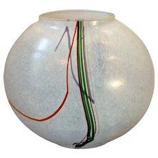 Kosta Boda Art Glass Vase by Bertil Valliens Vintage c1970s.