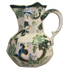 English Porcelain Jug By Mason's Vintage c.1920.