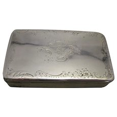 French Silver Hallmarked Snuff Box Antique c.1900.