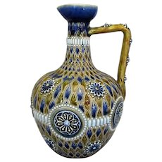 Antique Royal Doulton Lambeth Pottery Jug by Marion Holbrook c1905.