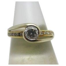 0.5ct Diamond 18k Gold Ring Vintage c1980