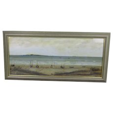 Oil On Board Seascape of The Bristol Channel Vintage 1968