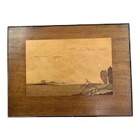 Marquetry Panel By Rowley Gallery London Vintage Art Deco c1930