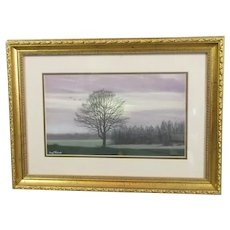 Framed Pastel Drawing 'A Country Walk' by B Richards Contemporary c2003