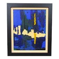 Acrylic on Board Abstract Painting Venetian Scene Contemporary