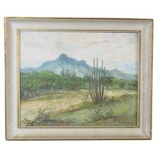 Oil on Canvas Venezuela Landscape Painting Vintage c1971