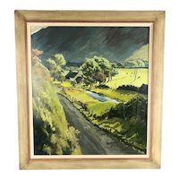 Framed Oil On Board Welsh Countryside by Mary Frame Contemporary