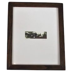 Framed Aquatint Limited Edition Print of Dogs Contemporary