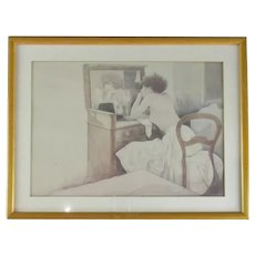 Framed Photogravure of a Lady by Michael Manning c1990