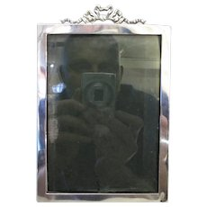 English Silver Fronted Photo Frame Vintage 20th Century.