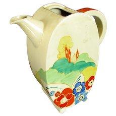 Clarice Cliff Bizarre Alton Pattern Coffee Pot Art Deco c1930.