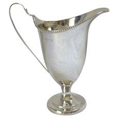 Helmet Shape Milk Jug Tableware Sterling Silver Vintage English 1979.