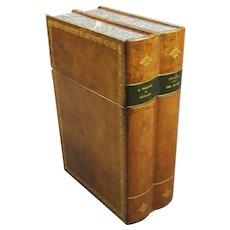 Leather Bar Safe Book Design Wine Case c1970