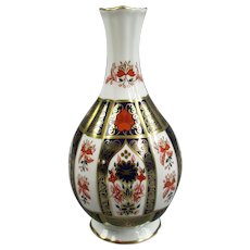 Royal Crown Derby Old Imari Pattern Vase Vintage 1997