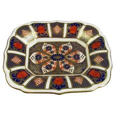 Royal Crown Derby Old Imari Pattern Shallow Dish Vintage 1995