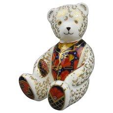 Royal Crown Derby Teddy Bear Paperweight Vintage c1997