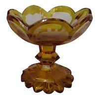 German Bohemian Glass Comport Antique c.1870.