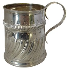 Quality Antique English Sterling Silver Small Tankard by Carrington & Co. c1909.
