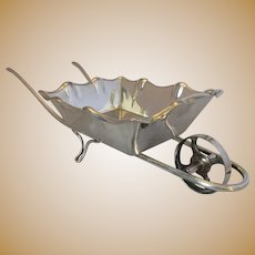 Larger Vintage Silver Plated Novelty Wheel Barrow c1920s.