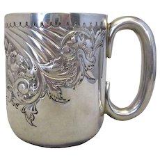 Sterling Silver Christening Mug/Tankard By James Dixson Antique Sheffield 1909.