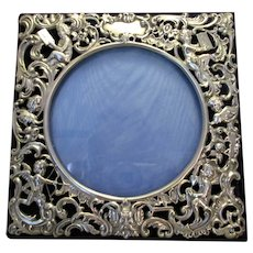 Sterling Silver Easel stand Picture Frame Antique London 1901.