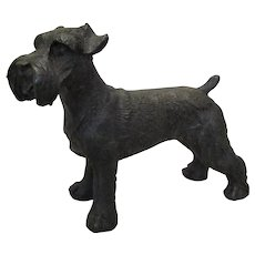 Bronze Schnauzer Dog Vintage 20th Century.