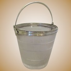 Smaller Silver Plated & Glass Bucket Victorian c1890.