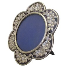 Sterling Silver Photograph Frame by George Heath Antique c1899.