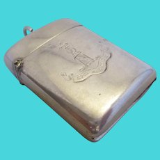 Sterling Silver Vesta Case with Motto Chester Antique c1904.
