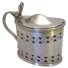 Antique Silver Plated Jam Preserve Jar c1900.