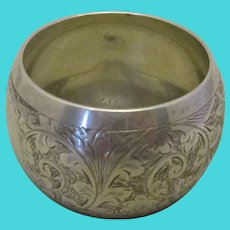 Sterling Silver Napkin Holder Ring Antique Chester 1902.