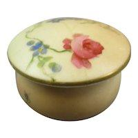 Miniature Royal Worcester Lidded Pot Antique Edwardian C1910.