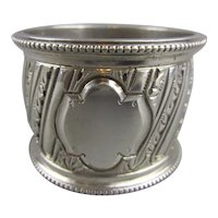 Sterling Silver Napkin Ring Antique Victorian London 1890