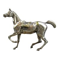 Silver Platted Horse Statue Made In England Art Deco 1930