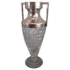 Sterling Silver Cut Glass Pineapple Vase Birmingham 1903