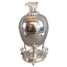 Silver Plate Egg Coddler Antique Victorian c1890