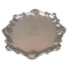 Sterling Silver Salver Antique Georgian 1764