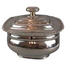 Silver Plate Sheffield Tea Caddy Antique c1830