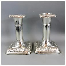 Sterling Silver Pair of Candlesticks 1902