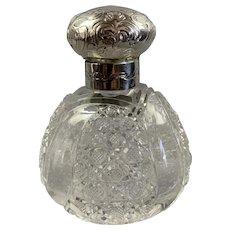 Sterling Silver Sent Bottle Art Deco Chester c.1901