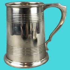 Sterling Silver Christening Mug Tankard By James Dixson Vintage Sheffield 1946