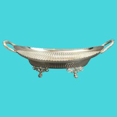 Walker Hall Sheffield Silver Plate Fruit Boat Dish Victorian Antique c1900