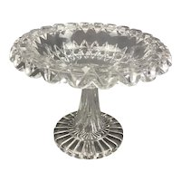 Cut Glass Comport Victorian Antique c1900