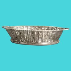 Atkin Brothers Silver Plate wicker basket Victorian Antique c1890
