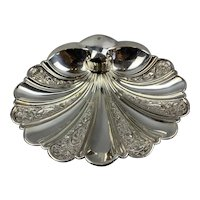 Silver Plate Scallop Shell Shaped Dish Antique Victorian c1890