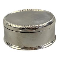 Sterling Silver Lidded Box By William Comyns Vintage Art Deco London 1931