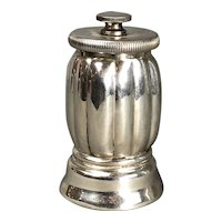 Continental 835 Grade Sterling Silver Pepper Mill Art Deco Vintage c1930