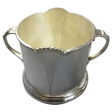 Silver Plated Bottle Holder Art Deco c1930