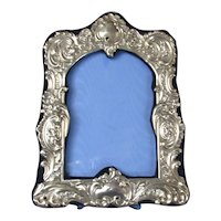 Sterling Silver Photograph Frame Antique Victorian Chester 1897